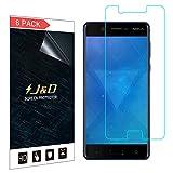 J & D Kompatibel für 8er Set Nokia 5 Display Schutzfolie, [Nicht Ganze Deckung] Premium HD-Clear Schutzfolie für Nokia 5