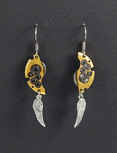 Ohrhänger Ohrschmuck Steampunk Goldene Flügel
