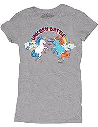 David and Goliath Unicorn Battle Womens T-shirt