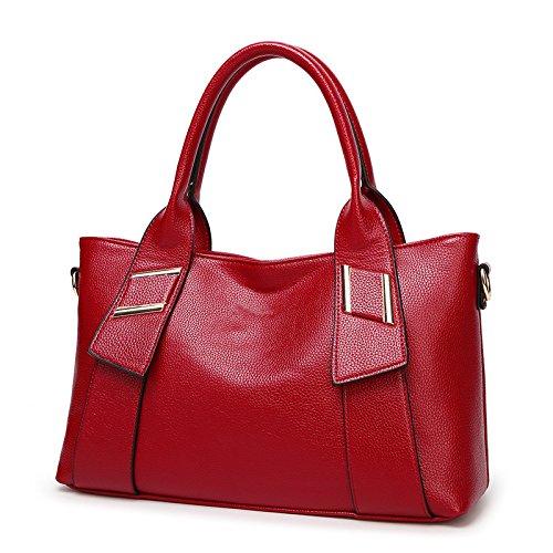 Mefly Nuova Donna Borsetta Europei E Americani Del Fashion Borsa A Tracolla Giallo red