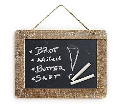 einfache Landhaus Memotafel zur Beschriftung mit Kreide im Holz Rahmen, ca. A4 Format 29 x 21cm Küchentafel Kreidetafel Tafel für Notizen