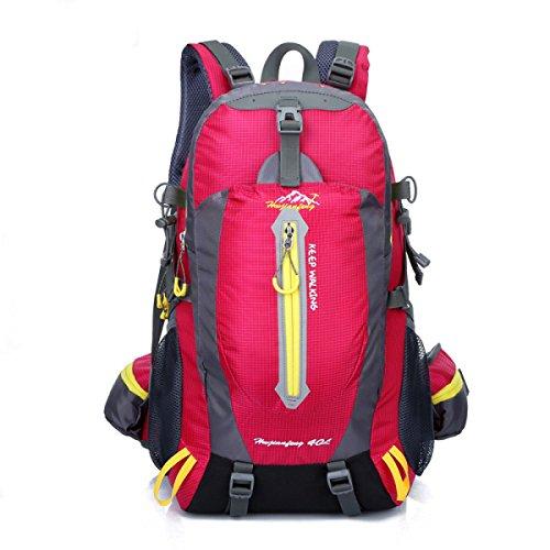 Outdoor Sport Rucksack 40L Bergsteigen Tasche Camping Daypack Reise Schulter Tasche rose
