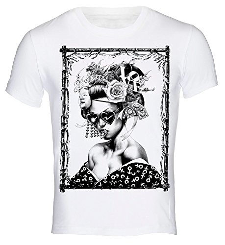 T Shirt Japanese Modern Geisha Tattoo Ink Yakuza Japan Girl M