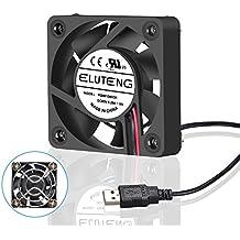 ELUTENG Ventilador de 40x40x10mm ultra silencioso USB para PC, PlayStation, Xbox USB Fan en color negro 4cm Venti