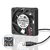 ELUTENG Ventilateur 40mm 5V Ventilateur USB avec Grille USB Fan 40mm pour PC/Laptop/PS3/PS4/TV Box/Routeur Portable Puissant 7 Lames Cooling Fan