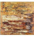 KunstLoft Acryl Gemälde 'EIN Leben zu zweit' 80x80cm | original handgemalte Leinwand Bilder XXL | Abstrakt Braun minimalistisch Braun | Wandbild Acrylbild Moderne Kunst einteilig mit Rahmen