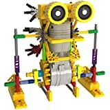 MINTOYS ® Robots Roo & Ribbit Kids Children Yellow and Green Mechanical Motorised Battery Operated Robotic Jungle Critters