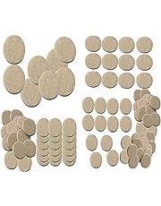 Nourish 100 Pcs Self Sticking Round Felt Pads Non Skid Floor Protector Furniture Pad Noise Insulation Pad