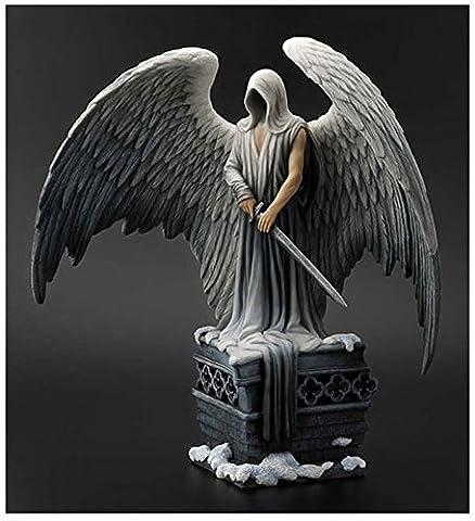 Figurine statue ange gardien, architecture gothique