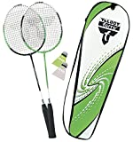 "Talbot Torro 449511 - Set Badminton ""2-Attacker"" con borsa termica (2014), colore: Verde/Bianco"