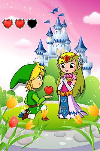 Okiwoki Affiche/Poster Géant HD (122 x 91 cm) (French Days) Zelda parodique Link et la Princesse Zelda : Un héros offrant Son Coeur à sa Belle Princesse. (Parodie Zelda)