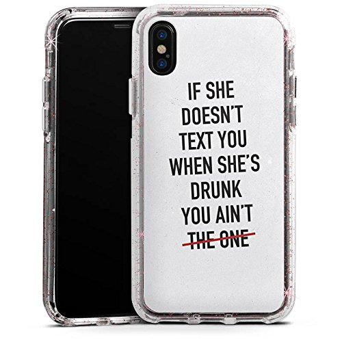 Apple iPhone 8 Bumper Hülle Bumper Case Glitzer Hülle Sayings Phrases Sprüche Bumper Case Glitzer rose gold