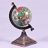 Miniatur-Figur mit Kugelspitzer, aus Metall, Druckguss, Motiv: Weltkugel, Miniatur, Maßstab 1:12