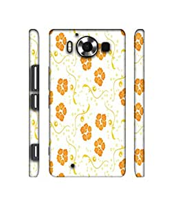 NattyCase Flowers Pattern Design 3D Printed Hard Back Case Cover for Microsoft Lumia 950