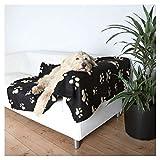 Bild: Trixie 37182 Fleecedecke Barney150 x 100 cm schwarz mit beigen Pfoten