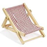 2 X Deko-Liegestuhl ca. 10 cm rot-weiß