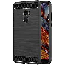 Funda Xiaomi Mi Mix 2, AICEK Negro Silicona Fundas para Xiaomi Mi Mix 2 Carcasa Xiaomi Mix 2 Fibra de Carbono Funda Case (5,99 Pulgadas)
