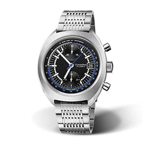 Oris Chronoris cronografo automatico nero quadrante mens orologio 0167377394084-set MB