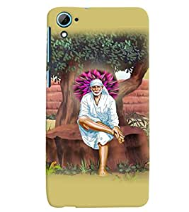 PrintVisa Religious & Spiritual Sai Baba 3D Hard Polycarbonate Designer Back Case Cover for HTC Desire 826