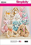 "Simplicity 8044OS ""2-Pattern Stuffed Animals"" Sewing Pattern, Paper"