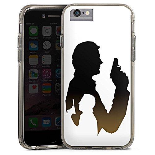 Apple iPhone 8 Bumper Hülle Bumper Case Glitzer Hülle James Bond Film Bumper Case transparent grau