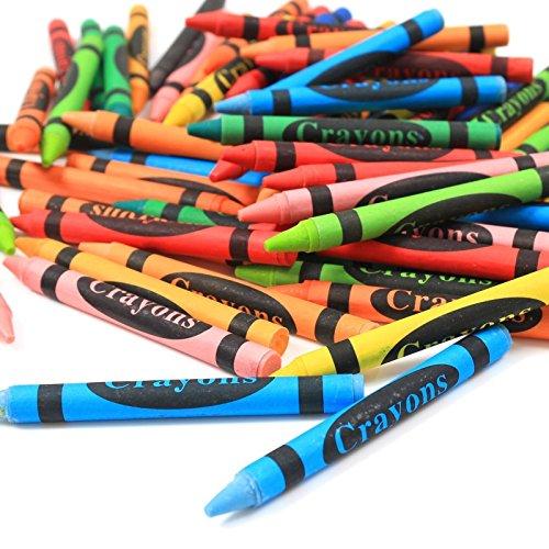 Invero Wachsmalstifte, ideal für alle Kinder, Schulen, Kinderzimmer, Restaurants, Cafés und mehr, 144Stück