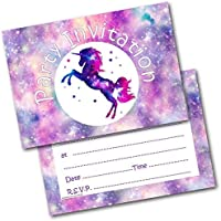 Doodlecards Birthday Party Invitations Unicorn Pack of 20 Invites & Envelopes
