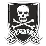 2x Piraten Jolly Roger Vinyl Aufkleber Aufkleber Laptop Reise Gepäck Auto Cool Schild Fun # 4080-10cm/100mm Wide