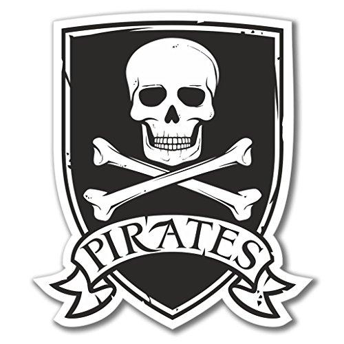 Preisvergleich Produktbild 2x Piraten Jolly Roger Vinyl Aufkleber Aufkleber Laptop Reise Gepäck Auto Ipad Schild Fun # 4080 - 30cm/300mm Wide