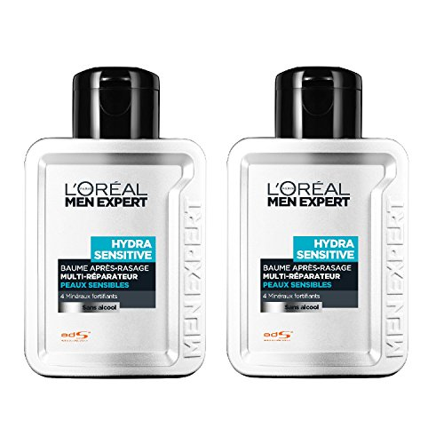 loral-men-expert-hydra-sensitive-baume-hydratant-24h-aprs-rasage-sans-alcool-peaux-sensibles-lot-de-