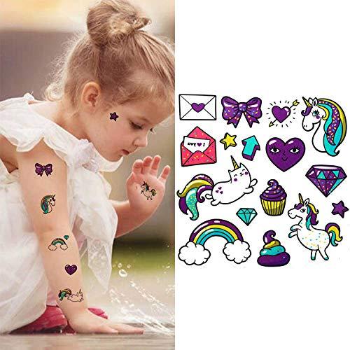 Kamrl tattoo adesivi autoadesivi falsi del tatuaggio del gatto animale sveglio sveglio di arte del corpo dei bambini per i bambini autoadesivi provvisori del tatuaggio 10 * 12cm @ 20006 dei bambini