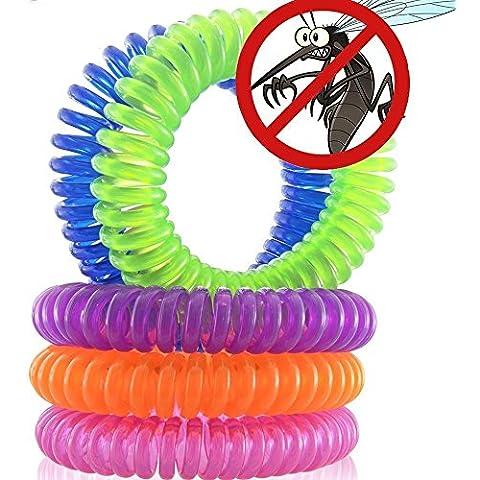 Magicmoon Pulsera Repelente de Mosquitos, 10 Piezas de Plagas del reflector del control de hasta 250 horas de protección contra insectos, al aire libre y cubierta, bandas de muñeca para adultos y niños - Sin Aerosol, Deet free - Todos los aceites vegetales