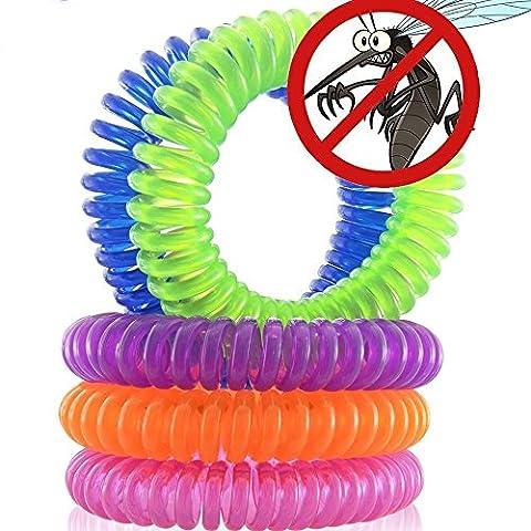 Magicmoon Moskito Repellent Armbänder, 10 Stück Schädlingsbekämpfung Repeller bis zu 250 Stunden von Insektenschutz , (Esterno Miglior Olio)