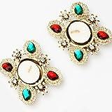 Ghasitaram Set of 2 Multicolor Stone t-L...