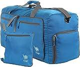 Reisetasche - diese faltbare, 53l große Reisetasche ist beständig, packbar, SUPERLEICHTE 410g mit abnehmbarem Schulterriemen - lässt sich in sich falten - am besten als Gepäck oder Sporttasche - VERMEIDEN SIE GEBÜHREN FÜR ÜBERGEPÄCK - 100% ZUFRIEDENHEITSGARANTIE (Blau)