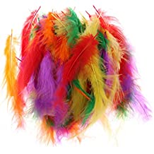 MagiDeal 100pcs Plumas de Bobo Multicolor DIY Artesanía Arte Adornos Accesorio Globo Arreglo Floral Casco Sombrero