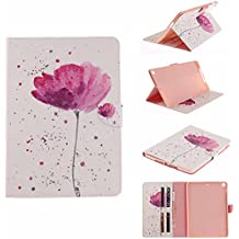 Billionn New iPad 9.7 2018/2017 Case, Paint All kinds of Cartoon Patterns With High-Quality PU Leather Slim Protective Case Cover Stand for Apple iPad 9.7 Inch 2018/2017 (Purple orchid)