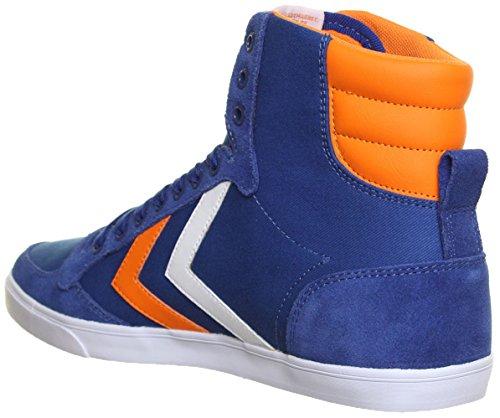 Hummel Slimmer Hi Baskets en toile Unisexe Bleu - Blue R