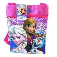Bolsa de hombro 'Frozen - Reine Des Neiges', azul, rosa (23x17 cm).