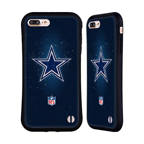 Ufficiale NFL Pattern 2017/18 Dallas Cowboys Logo Case Ibrida per Apple iPhone 6 / 6s LED