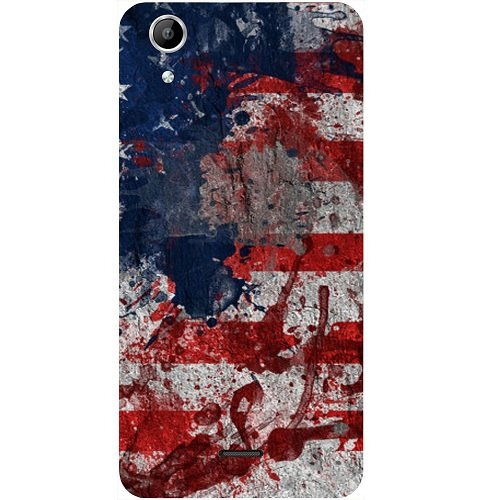 Casotec Painting American Design Hard Back Case Cover for Micromax Canvas Selfie Lens Q345  available at amazon for Rs.149