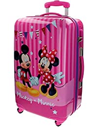 Disney Mickey & Minnie Party Equipaje Infantil, 53 Litros, Color Rosa