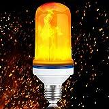 SOLLA LED Lampadina di Luce a Fiamma Tremolante con Effetto Candela Tremolante Fuoco Fiamma 4W E27 LED,Luce Decorativa per Vacanze,Luce di Atmosfera per Feste di Natale Decorazione di Bar Caffè Party