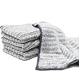 Microfibra Asciugamani per la Pulizia,disponibile come un Strofinacci e un Asciugamani da Cucina,Grigio,3 per confezione