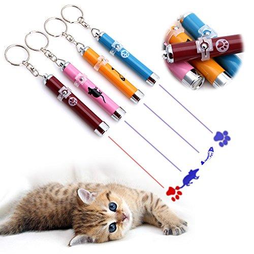 Preisvergleich Produktbild ECMQS Aluminium Lustige Katze Stick Mode Haustier Spielzeug LED Zeiger Stift Spielzeug,  gelegentliche Farbe (1)