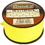 Connex COX781562 Cordeau de maçon 100 m Max 45 kg 1,2 mm Jaune