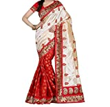 Sarees ( Shreeji Ethnic Sarees Collection sarees for women party wear offerr designer sarees for women latest design sarees new collection saree for women saree for women party wear saree for women in Latest Saree With Designer Blouse Free Size Beautiful Saree For Women Party Wear Offer Designer Sarees With Blouse Piece) (red1)