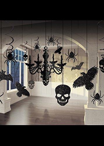 Halloween Glitter gotische Kronleuchter dekorieren (Halloween Kronleuchter)