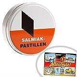 Salmiak Pastillen | INKL DDR Geschenkkarte | Ostprodukte| Ideal für jedes DDR Geschenkset | DDR Traditionsprodukt und Ossi Kultprodukt | Ossi Artikel