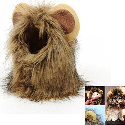 r Kostüm Löwe Cosplay für Hunde Katze Halloween Karneval mit Ohren (Ideen Für Halloween-kostüme Für Hunde)